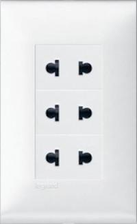 Bộ cắm điện 3 ổ - Rivia 654320 654353 WHITE
