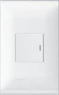 Bộ 1 công tắc 1 chiều - Rivia 654310 654351 WHITE