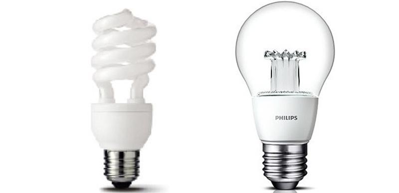 Sử dụng đèn Led hay đèn compact sẽ tiết kiệm hơn
